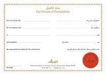 Completion Certificate(10 pieces)