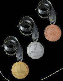Medal Set(1st,2nd,3rd)